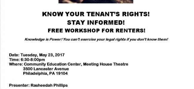 Tenants' Rights Workshop