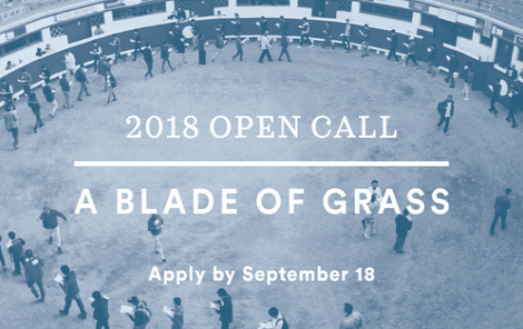 A Blade of Grass 2018 Fellowship for Socially Engaged Art