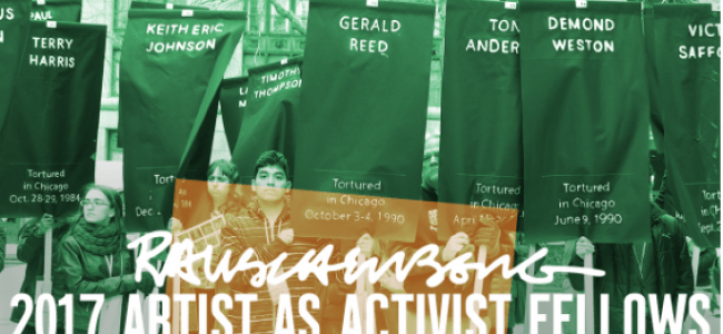 2017 Artist as Activist Fellows