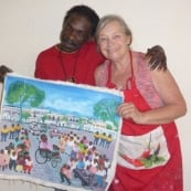 Artist Patricia Goodrich Here and Haiti!