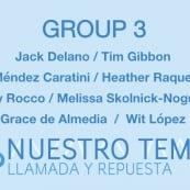 Artist talk and exhibit: Nuestro Tema: Llamada y Repuesta