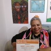 Nancy Shell won first place for Works on Paper at Fleisher Art Memorial Adult Student Art Show