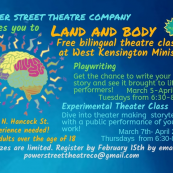 Free Adult Theatre Classes at Power Street Theatre