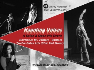 Haunting Voices: Open Mic and Salon at Twelve Gates Arts on November 19