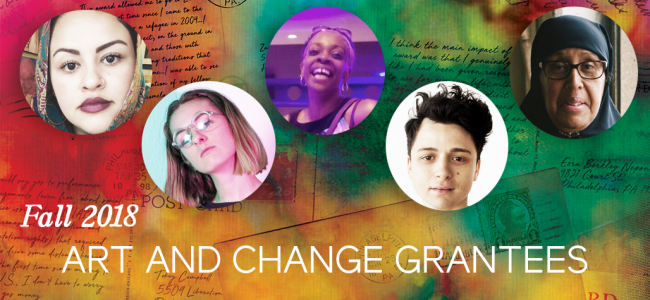 Leeway Foundation Announces Fall 2018 Art and Change Grantees